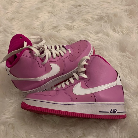 Purple And Pink High Top Air Force Ones